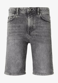 TOM TAILOR DENIM - Denim shorts - used light stone grey denim - 6