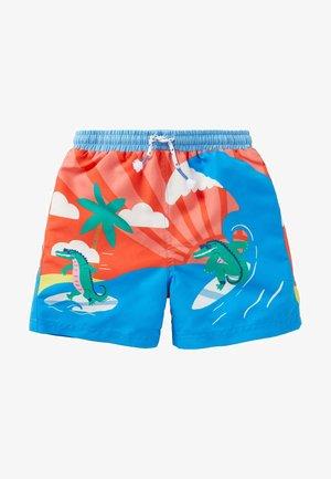 GEMUSTERTE - Swimming shorts - feuerwerkskörperrot/surfendes krokodil