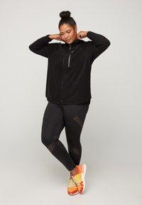Active by Zizzi - Fleece jacket - black - 1