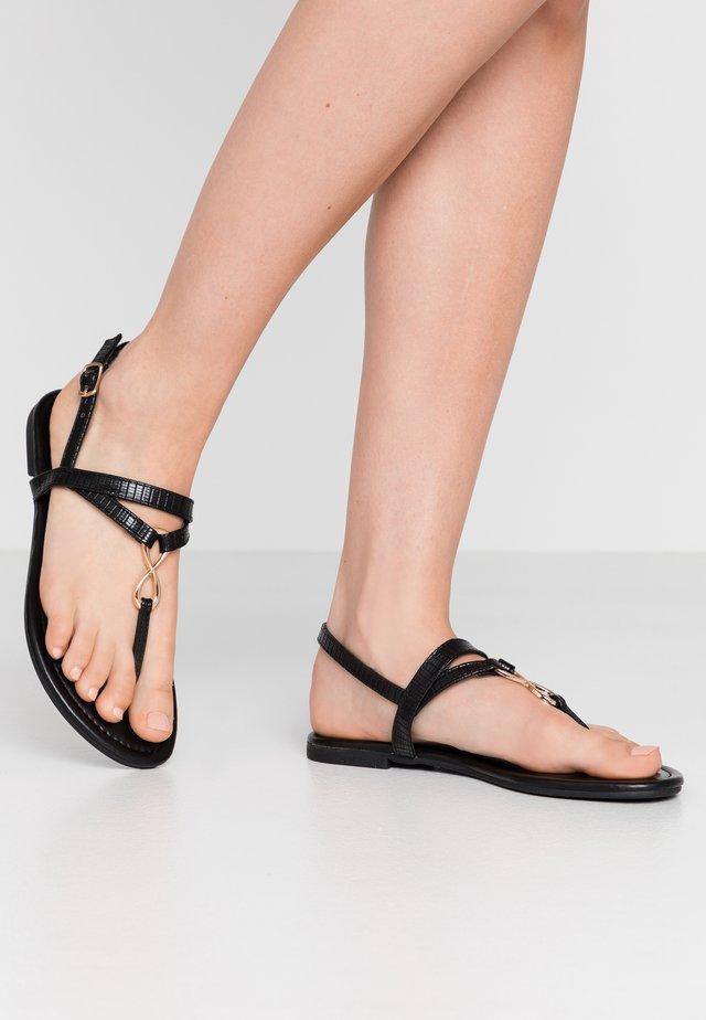 HOOPER - Sandalias de dedo - black