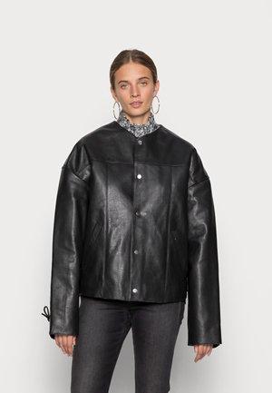 CANOO - Leren jas - black