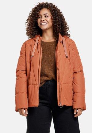 MIT KAPUZE - Winter jacket - mocca brown