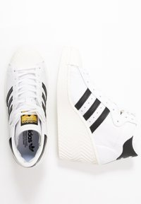 adidas Originals - SUPERSTAR ELLURE - High-top trainers - footwear white/core black/offwhite - 5