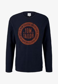 TOM TAILOR - MIT LOGO-PRINT - Long sleeved top - dark blue - 5