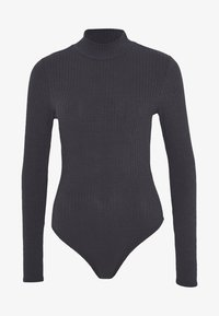 New Look - TURTLE NECK BODY - Long sleeved top - grey - 0