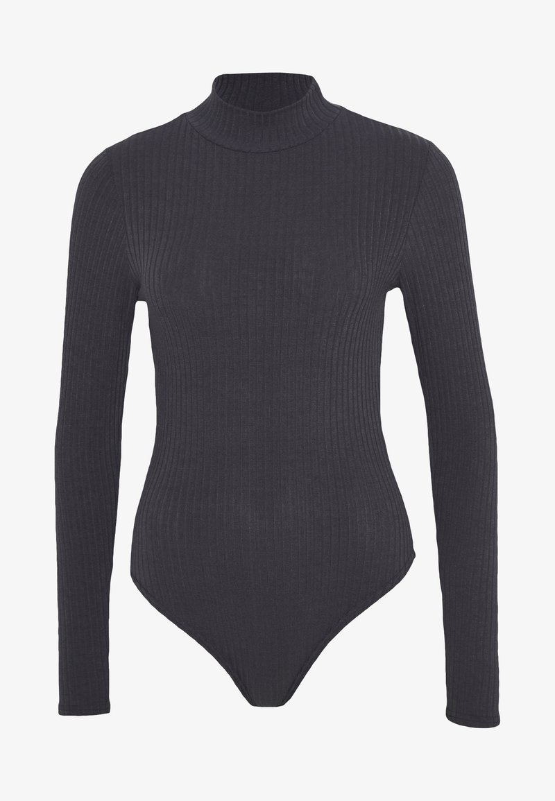 New Look - TURTLE NECK BODY - Long sleeved top - grey