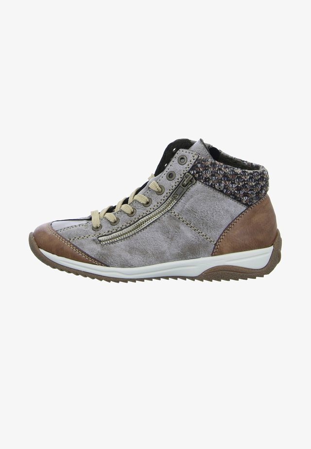 Boots à talons - brown/grey
