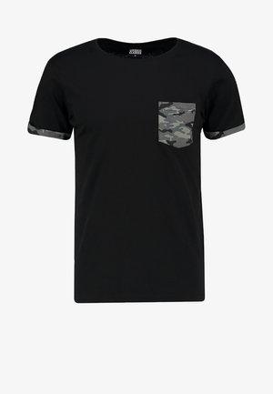 Print T-shirt - dark camo
