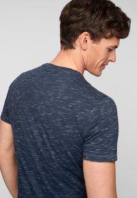 s.Oliver - T-Shirt basic - blue melange - 3