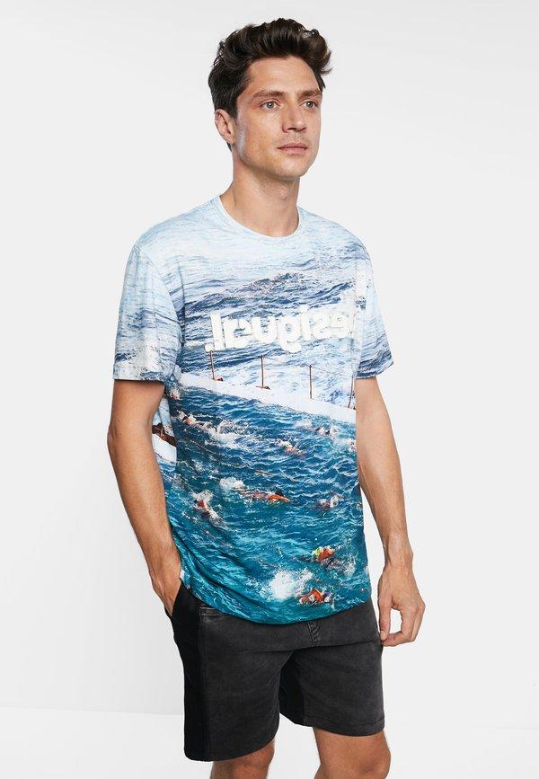 Desigual TS_CANIO - T-shirt z nadrukiem - white/biały Odzież Męska ATFE