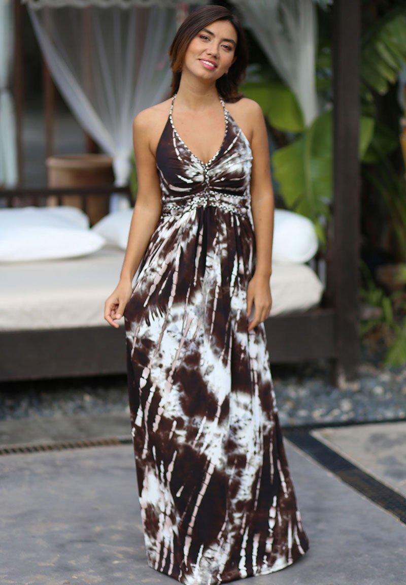 CHIC by Lirette - HALTER JURK SAMOA - Maxi dress - brown