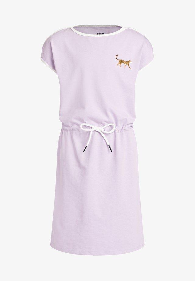 PANTER EMBROIDERY - Jersey dress - lilac