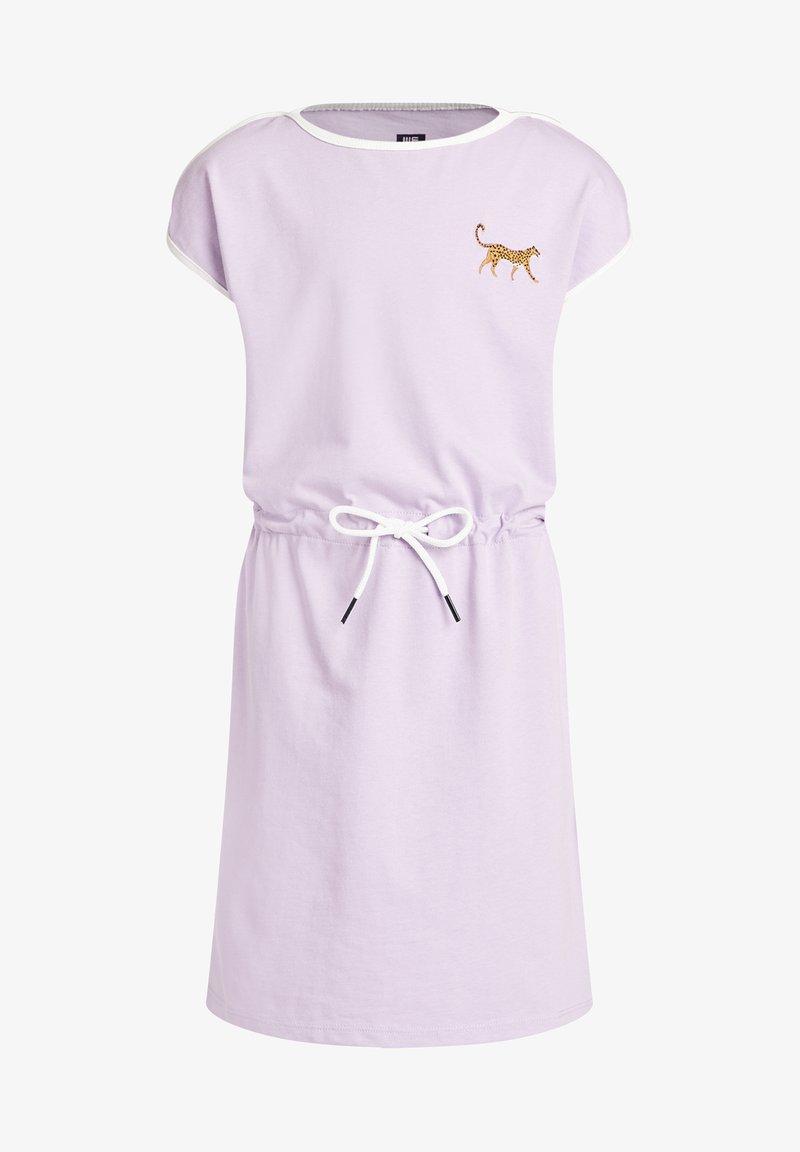 WE Fashion - PANTER EMBROIDERY - Jersey dress - lilac
