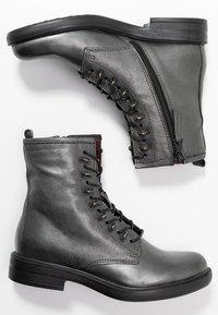 MJUS - Šněrovací kotníkové boty - gunmetal - 3