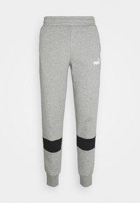 Puma - COLORBLOCK PANTS - Pantalon de survêtement - medium gray heather - 3