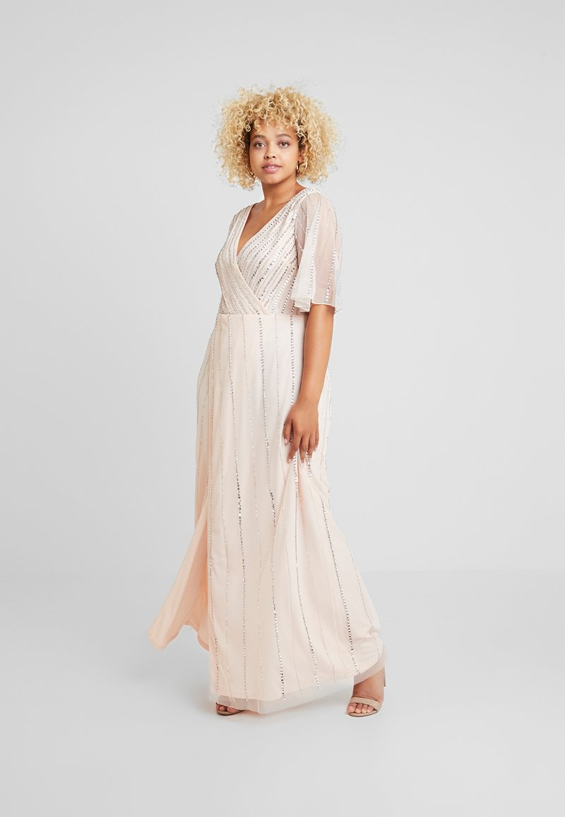 Lace & Beads Curvy - MARTNA - Occasion wear - blush