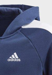 adidas Performance - ADIDAS ATHLETICS CLUB  HOODIE - Felpa aperta - blue - 2