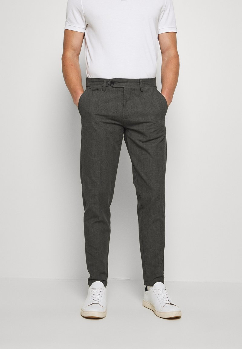 Lindbergh - CHECKED CLUB PANTS - Tygbyxor - grey