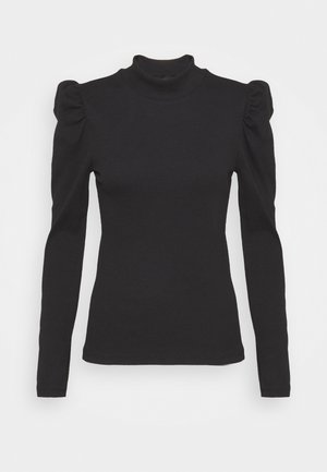 PCANNA NECK TOP TALL - Long sleeved top - black