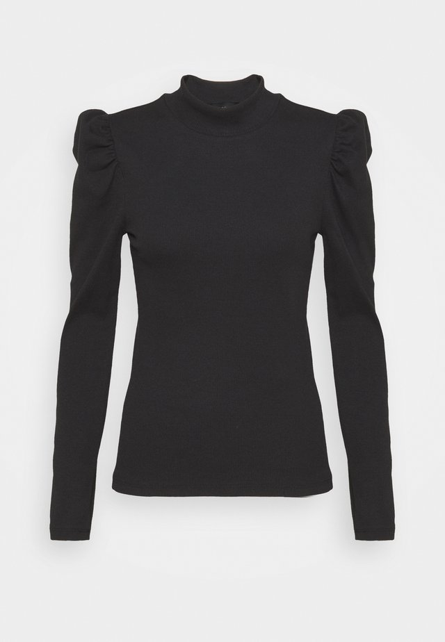 PCANNA NECK TOP TALL - T-shirt à manches longues - black