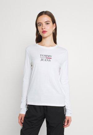 TJW SLIM ESSENTIAL TOMMY TEE LS - Maglietta a manica lunga - white