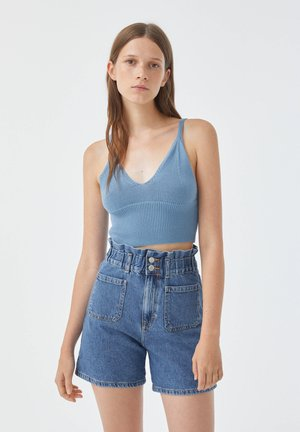 Top - stone blue denim