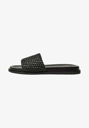 WOVEN - Pantofle - schwarz