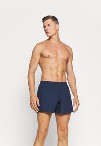 EA7 Emporio Armani - SEA WORLD LOGO - Swimming shorts - navy/silver - 0