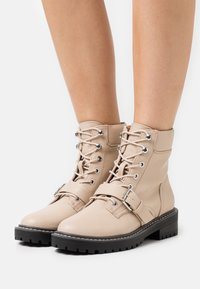 ONLY SHOES - ONLBOLD PADDED LACE UP BOOTIE  - Lace-up ankle boots - beige - 0