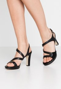 Anna Field - LEATHER HIGH HEELED SANDALS - Højhælede sandaletter / Højhælede sandaler - black - 0