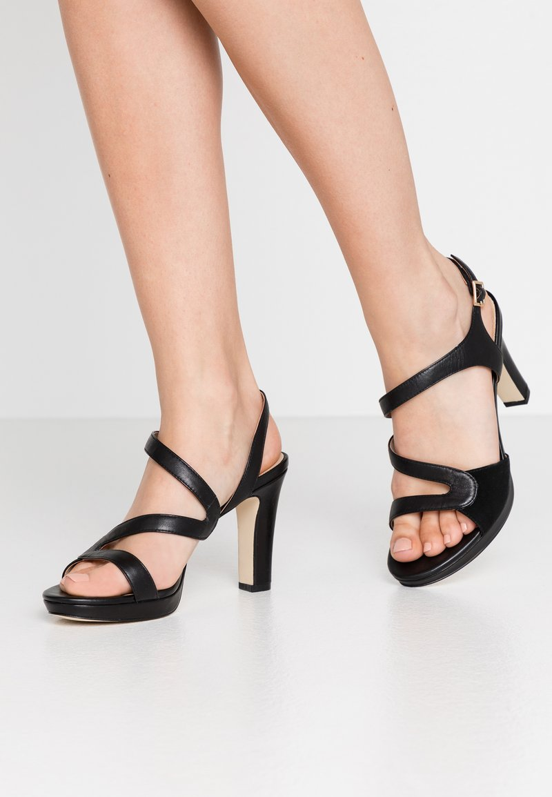 Anna Field - LEATHER HIGH HEELED SANDALS - Højhælede sandaletter / Højhælede sandaler - black