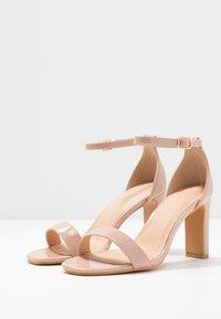 Simply Be - WIDE FIT - Sandaler med høye hæler - nude - 4