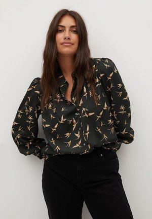 LAURAP - Button-down blouse - schwarz