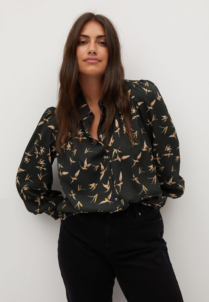 Violeta by Mango - LAURAP - Button-down blouse - schwarz