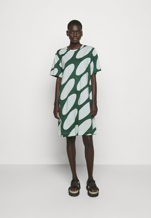 KEVÄINEN LINSSI DRESS - Jersey dress - light green/dark green