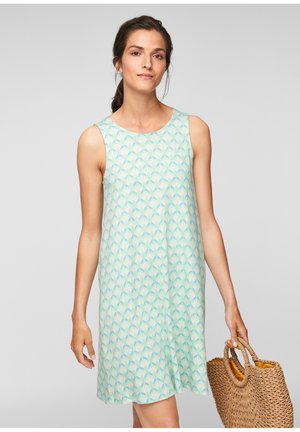 MET RUGHALS - Jersey dress - turquoise aop