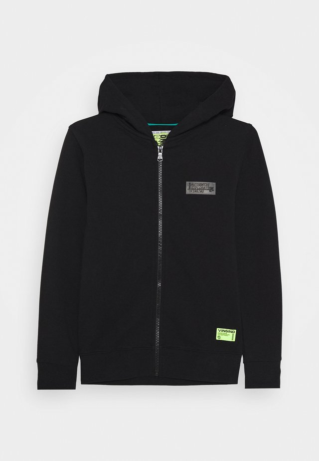 UBBION - veste en sweat zippée - deep black