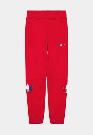 TRI COLOUR TRACKPANT UNISEX - Tracksuit bottoms - scarlet