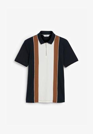 VERTICAL BLOCK  - Polo shirt - mottled light blue