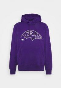 Fanatics - NFL BALTIMORE RAVENS GLOW CORE GRAPHIC HOODIE - Club wear - purple - 3