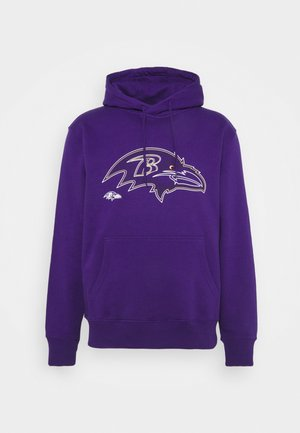 NFL BALTIMORE RAVENS GLOW CORE GRAPHIC HOODIE - Club wear - purple