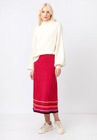 Ivko - Áčková sukně - rosewood - 3