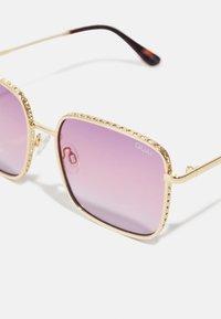 QUAY AUSTRALIA - REAL ONE - Occhiali da sole - gold-coloured/ purple pink - 4