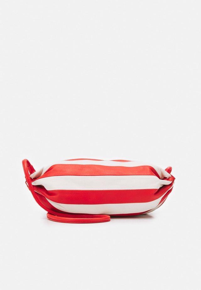 KARLA STRIPE BAG - Across body bag - off white/red