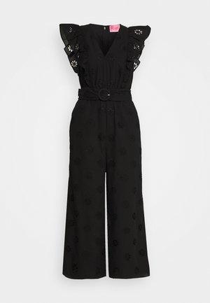 SPADE CLOVER EYELET - Jumpsuit - black