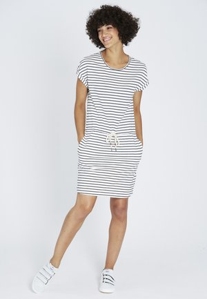 Jersey dress - navy / white