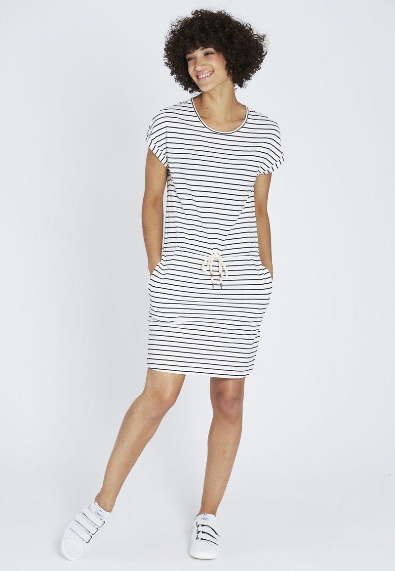 recolution - Jersey dress - navy / white