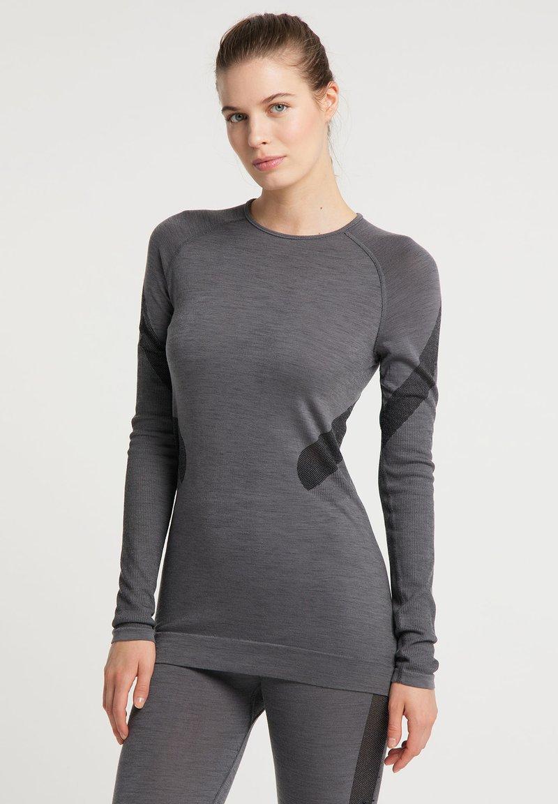 PYUA - Long sleeved top - grey melange
