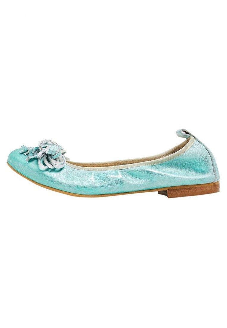 Ballerinaskor turquoise metallic