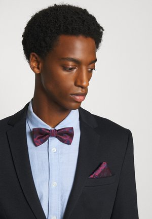 ONSTAJ PATTERN BOWTIE SET - Pocket square - merlot/dark navy